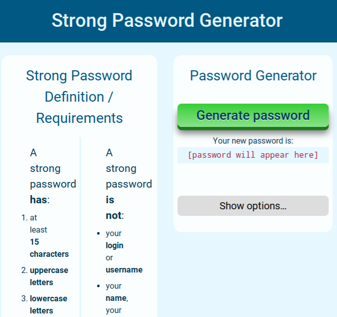 Need Help Creating A Tr0n9 Password Logic To Create