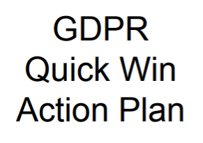 GDPR Quick Win Action Plan