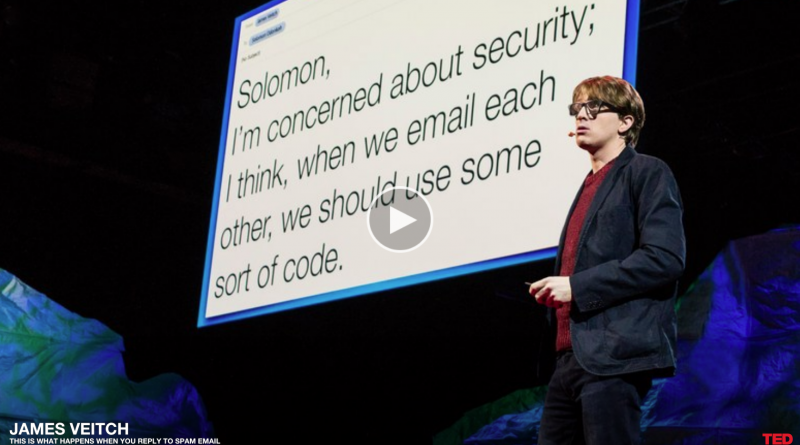James Veitch | TEDGlobal>Geneva |This is what happens when you reply to spam email