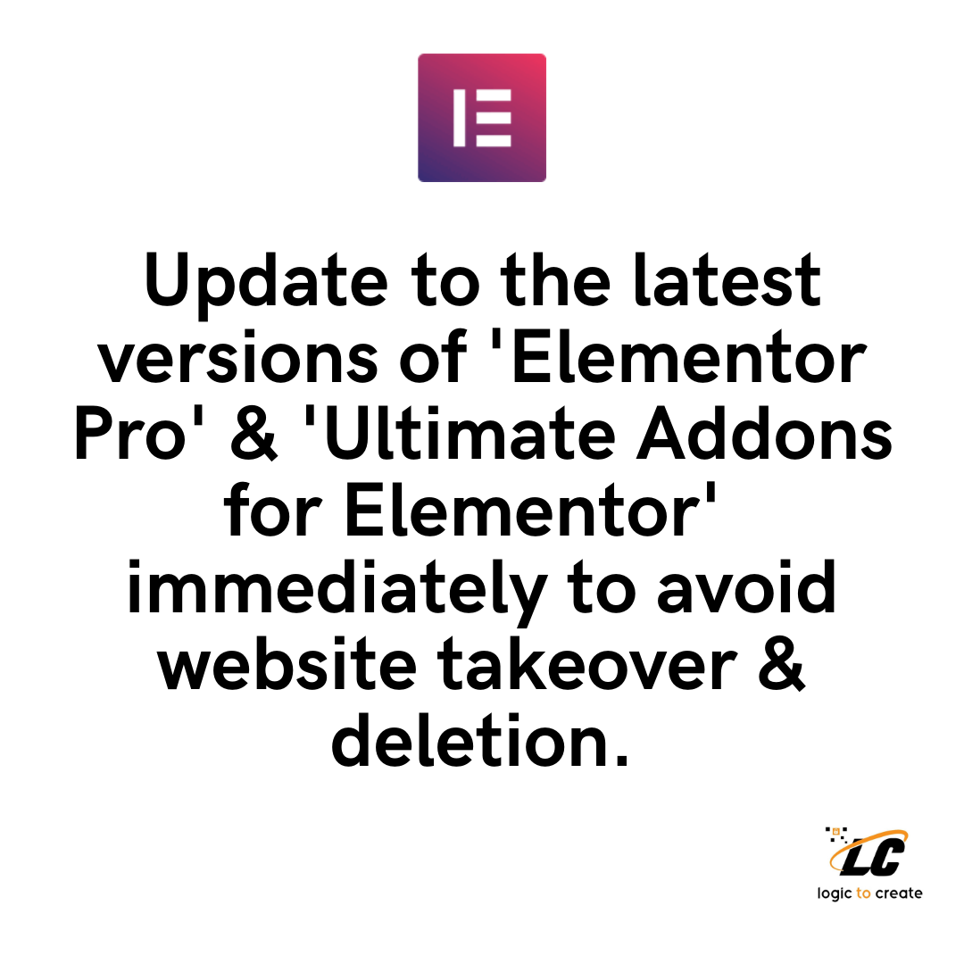 Update Elementor Pro Now!